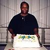 Bob Bradshaw with Bithday Cake