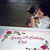 Chris Buck with Rosie and her Birthday Cake