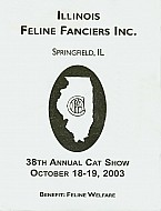 Catalog Cover - Illinois Feline Fanciers - Spring