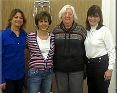 Lisa Morgan, Lynn Staker, Mary Jane Tesdall, and Cheryl McConnell