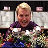Brian Pearson with table decorations