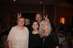 Joyce Kempf, Allene Keating, Robin Bryan photo bombed by Kadri & Siim Koppel