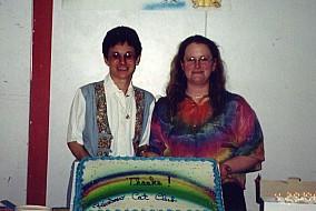 Chris Buck & Nikki Crandall-Seibert Rainbow Cat Club Cake