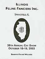 Catalog Cover - Illinois Feline Fanciers - Spring