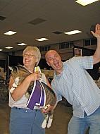 Cathy Johannas and Siim Koppel having fun in Topeka